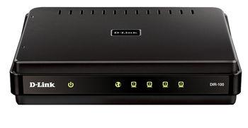 D-LINK DIR-100, Broadband Router, 4-port 10/100Mbps, Ethernet ports, 1USB