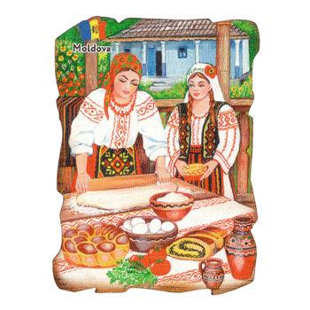 купить Магнит на холодильник (дерево) - Молдова в Кишинёве