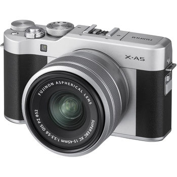 Fujifilm X-A5 Silver XC15-45mm kit, Mirrorless Digital Camera X System ( Aparat fotografic )