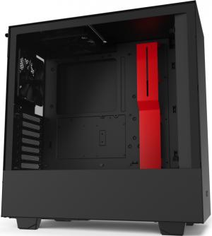 купить Case ATX NZXT H510, 1xUSB 3.1, 1xType-C, 2x120mm, Temp. Glass, Filters, Cable Man., Black/Red в Кишинёве
