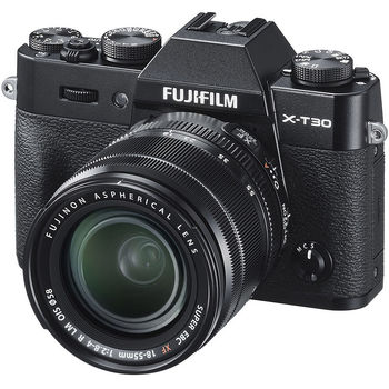 Fujifilm X-T30 black XF18-55mm Kit, Mirrorless Digital Camera Fujifilm X System (Aparat fotografic)