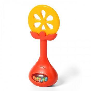 Прорезыватель с погремушкой TASTY Orange
