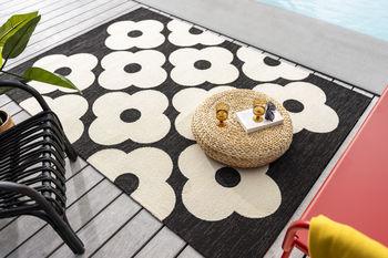 Авторские ковры ручной работы ORLA KIELY OUTDOOR spot flower black 460805