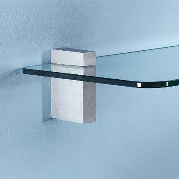купить Полка стандартная Glassline 420x120x8 мм, прозрачное стекло в Кишинёве