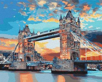 Картина по номерам 40x50 Лондонский мост 3515