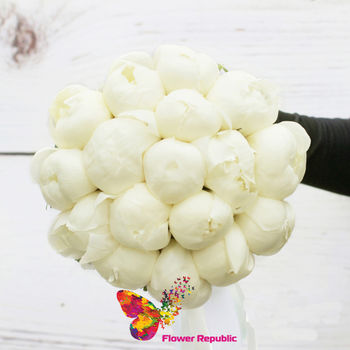 купить Букет невесты из белых голландских пионов в Кишинёве