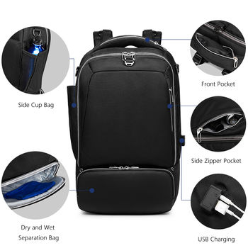 купить Рюкзак городской USB для ноутбука 15.6'', Ozuko 9086, Camo в Кишинёве