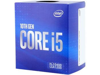 Intel® Core™ i5-10400, S1200, 2.9-4.3GHz (6C/12T), 12MB Cache, Intel® UHD Graphics 630, 14nm 65W, Box