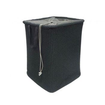 cumpără Coș tricot cu cordon 400x400x550 mm, negru în Chișinău
