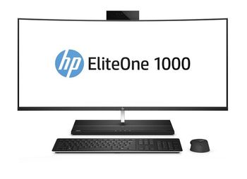 "All-in-One PC - 34"" curved EliteOne 1000 G2 WQHD IPS +W10 Pro, i7-8700 up to 4.6GHz, 16GB DDR4, 512GB SSD, Intel® UHD 630 Graphics, IR + 2MP Dual Webcam, Wi-Fi-AC/BT, 180W PSU, Wireless KB&MS, Win10Pro, 3yw, Black"