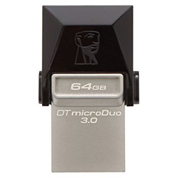 Kingston DataTraveler MicroDuo 64Gb, USB3.0, Ultra small, USB OTG (On-The-Go)