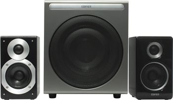 "Edifier S530D Black, 2.1/70W+ 2x35W RMS, Audio in: two digital (Optical, Coaxial) & two analog (RCA), Wired control with LCD display & Remote control, all wooden, (sub.8"" + satl.(3,5""+1""))"