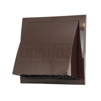 купить Выход стенной вытяжной с обратным клапаном 150 x150 с фланцем Ø100mm (коричневый) ND10FVB Europlast в Кишинёве