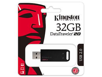 64GB USB Flash Drive Kingston DT20/64GB DataTraveler 20 Black, USB 2.0 (memorie portabila Flash USB/внешний накопитель флеш память USB)