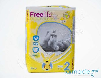 купить Scutece BEBE CASH 2 ( 3-6 kg)  MINI  N56 (500274201/500274202) в Кишинёве
