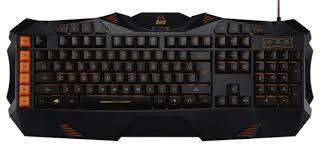 Игровая клавиатура Canyon Phobos, 5 макроклавиш, 8 мультимедийных клавиш, Подсветка, Черный / Оранжевый, USB