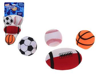 Набор детских мячей 4шт 7cm (баскет, рэгби, теннис, футбол)