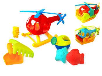 """Набор игрушек для песка """"Вертолет"""" 7ед, 30X18X15cm"""