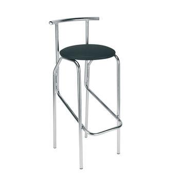 купить Барный стул JOLA chrome box V-4, черный в Кишинёве