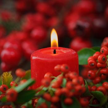 купить Свеча столбик, 60*120 мм, красная, Paterra в Кишинёве