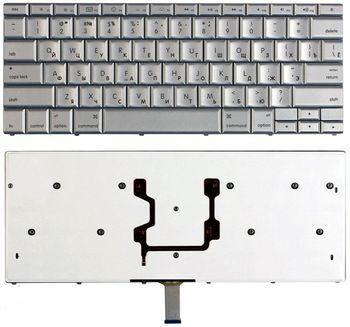 "Keyboard Apple Macbook Pro 15"" A1211 A1226 A1260 A1150 Macbook Pro 17"" A1229 A1261 A1212 A1151ENG/RU Silver"