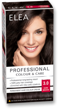 Краска для волос,SOLVEX Elea, 138 мл., 3.0 - Тёмный шатен