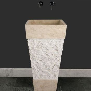купить Раковина для ванной травертин SP-19, 43 х 84 см в Кишинёве