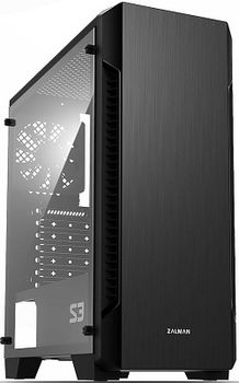 "ZALMAN ""S2"" ATX Case, with Full Acrylic Side Panel, without PSU, Tool-less, 120mm rear fan pre-installed, Top Magnetic Dust Filter, 1xUSB3.0, 2xUSB2.0 /Audio, Black"