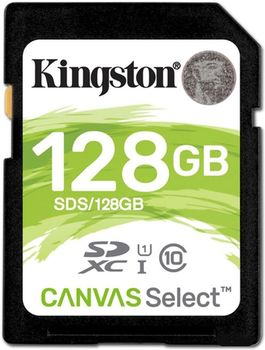 Kingston 128GB SDHC Canvas Select Class10 UHS-I, 400x, Up to: 80MB/s
