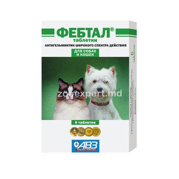 cumpără Febtal tablete pentru pisici și câini în Chișinău