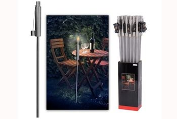 Факел садовый H115cm, нержавеющая сталь