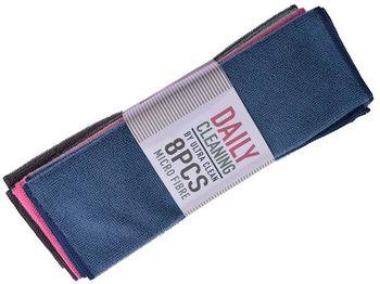 Набор тряпок микрофибра Daily 8шт, 30X30cm, 3 цвета