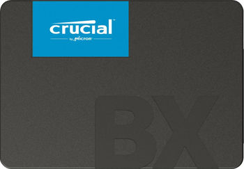 "2.5"" SSD 240GB  CRUCIAL BX500, SATAIII, SeqReads: 540 MB/s, SeqWrites: 500 MB/s,  7mm, Controller SMI SM2258XT, Micron's 64-layer 3D NAND TLC"