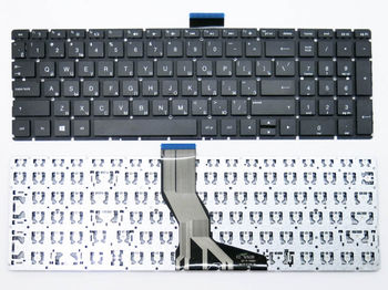 "Keyboard HP Pavilion 15-AB, 15-AK, 15-BS, 15-BW, 15-CD, 17-AB, ProBook 250 G6, 255 G6, 256 G6, 258 G6 w/o frame ""ENTER""-small ENG/RU Black"