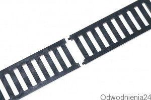 купить 01787 Решетка  PVC  B125 0.5m черная в Кишинёве