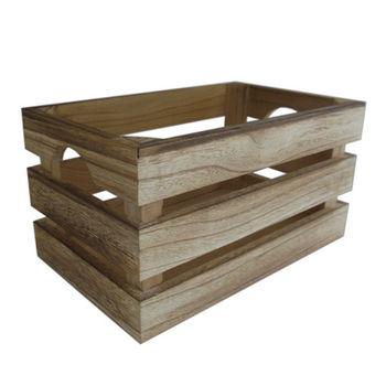 купить Ящик деревянный 410x310x200 мм, коричневый в Кишинёве