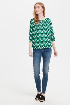 Блуза Fransa Зеленый в клетку 20605585