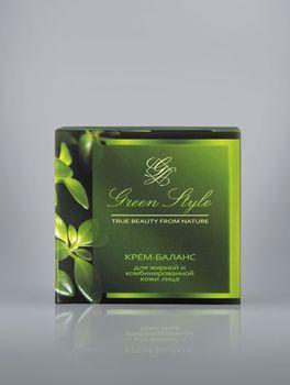 купить Крем-баланс для жирной и комбинированной кожи лица (ночной) Green Style в Кишинёве