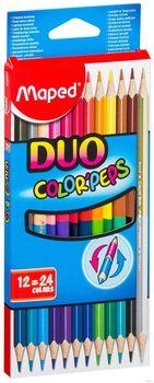 """Набор карандашей цветных """"Color Peps Duo"""" 12 шт.; 24 цвета"""
