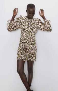 Платье ZARA Принт цветочек 8533/186/330