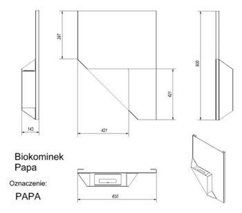 купить Биокамин - PAPA настенный в Кишинёве