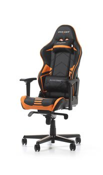 Gaming Chairs DXRacer - Racing PRO GC-R131-NO-V2, Black/Black/Orange - Carbon Look Vinyl & PU,Gamer weight up to 115kg/growth 165-195cm,Foam Density 50kg/m3,5-star Alum IC Base,Gas Lift 4 Class,Recline 90*-135*,Armrests:4D,Pillow-2,Caster-3*PU,W-26kg
