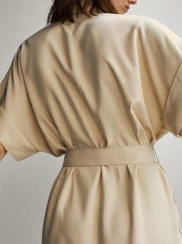 Платье Massimo Dutti Беж 6626/546/710