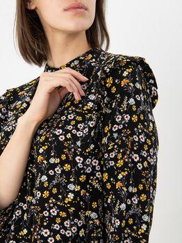 Платье TOM TAILOR Черный в цветочек