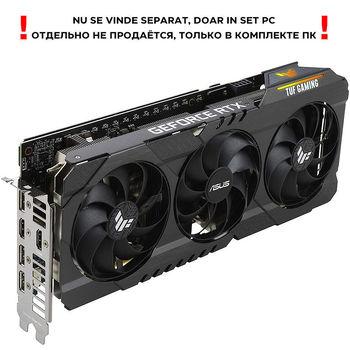 Видеокарта ASUS TUF-RTX3060TI-O8G-V2-GAMING, GeForce RTX3060Ti 8GB GDDR6, 256-bit, GPU/Mem speed 1785/14Gbps, PCI-Express 4.0, 2xHDMI 2.1/3xDisplay Port 1.4a (placa video/видеокарта)