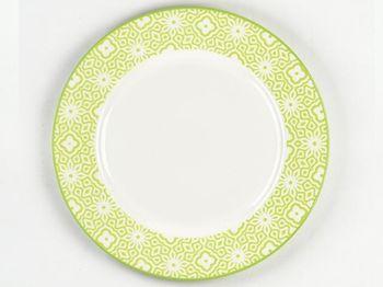 Тарелка 25.5cm сервировочная Ambra, салатовая, керамика
