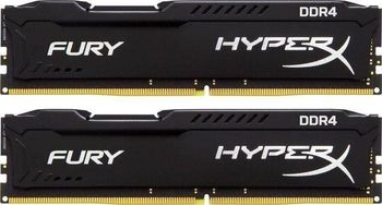 32GB (Kit of 2*16GB) DDR4-3466 HyperX® FURY DDR4, PC27700, CL16, 1.2V, Auto-overclocking, Asymmetric BLACK heat spreader, Intel XMP Ready  (Extreme Memory Profiles)
