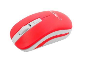 Esperanza EM126WR, Wireless Optical Mouse, 2.4GHz, 800/1200/1600 dpi, Nano Receiver, 4 Buttons, USB, Red/White