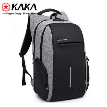 купить Рюкзак KAKA 2215 c отделением для ноутбука 15.6'', с USB портом,водонепроницаемый, cерый в Кишинёве