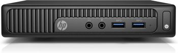 Mini PC HP 260 G2 DM Intel® Core® i3-6100U 2.3GHz, 4GB DDR4 RAM, 128GB SSD, No ODD, Intel® HD 520 Graphics, VGA, HDMI, 4*USB 3.0, 2*USB 2.0, GigLAN, 65W PSU, DOS, USB KB/MS, Stand, TPM 1.2, 1.05 kg, Black